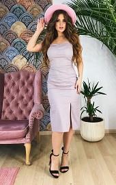 Сарафан серый в розовый горошек Viravi Wear, модель 1037