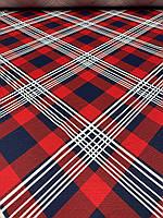Одёжная ткань французский трикотаж красный