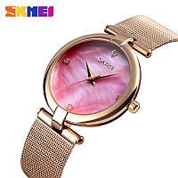 Skmei 9177 marble розовые женские часы, фото 1
