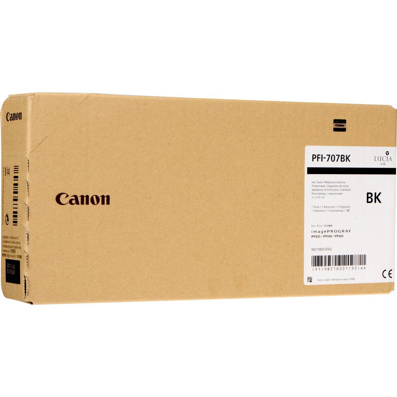Картридж Canon PFI-707BK для iPF830/840/850, Black, 700 мл