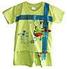 """Детский костюмдля мальчика """"Mickey Fly"""" от 6мес до 24 месфутболка с шортами лимонного цвета"""