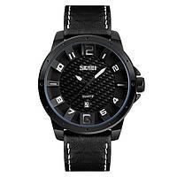 Skmei 9150 черные с белым мужские классические часы, фото 1