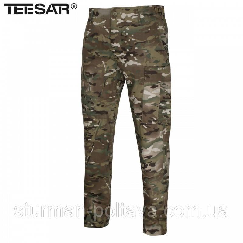 Армійські штани камуфляжні BDU SLIM бавовна 100% R/S колір мультикам Mil-Tec Німеччина