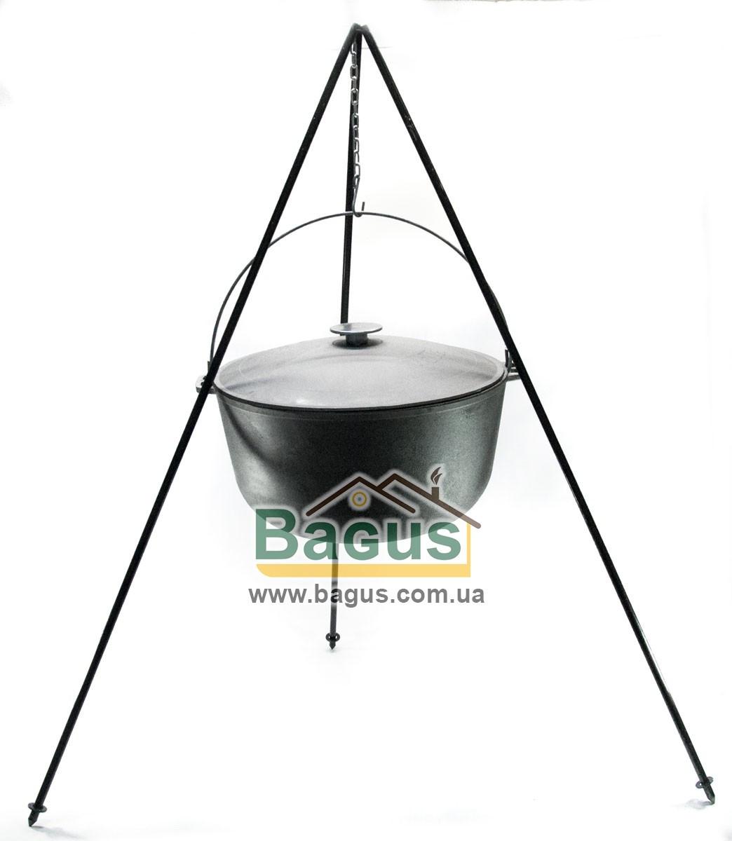 Казан чавунний туристичний 20л 40см з чавунною кришкою, дужкою й триногою 1,2 м Біол (0720ЧК-2)