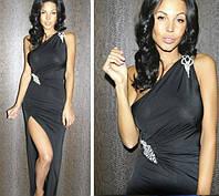 Вечернее стильное платье Брошь Ян $