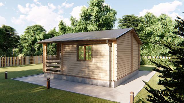 Домик деревянный садовый для дачи из профилированного бруса 6х6 м фото 1