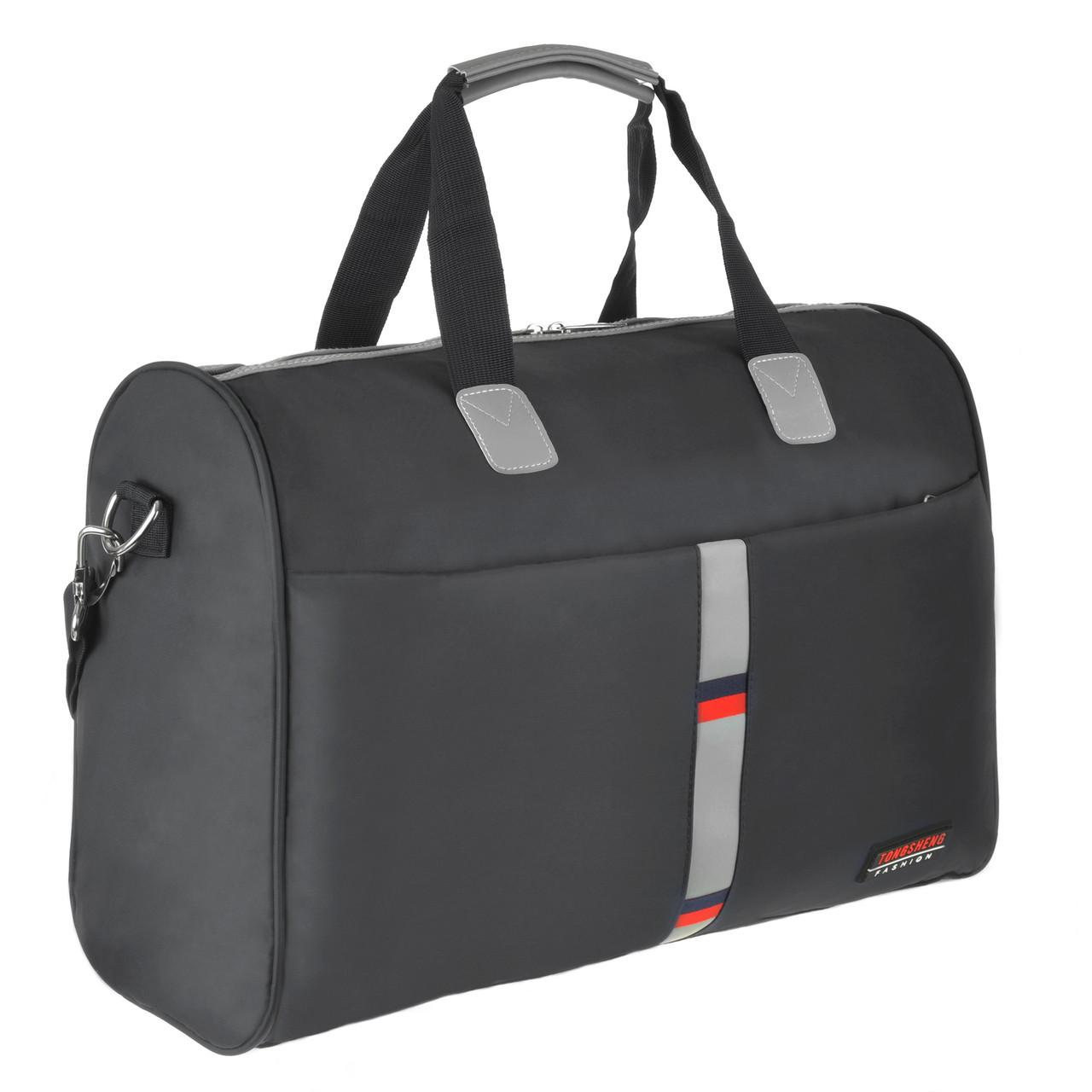 Дорожная сумка TONGSHENG саквояж синяя 50x34x22 ткань нейлон  ксТС508ч