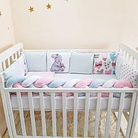 Комплект Маленькая соня Арт Дизайн Зайка с книжкой стандарт защита+простынь детский арт.0739246