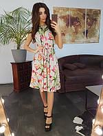 Летнее миди платье с цветочным принтом на лето 2019, фото 1