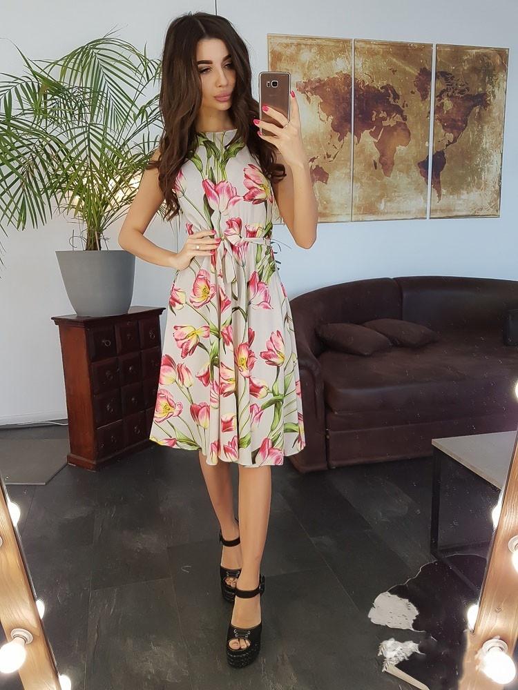 a0dff19aa6d Летнее миди платье с цветочным принтом на лето 2019 - Интернет-магазин