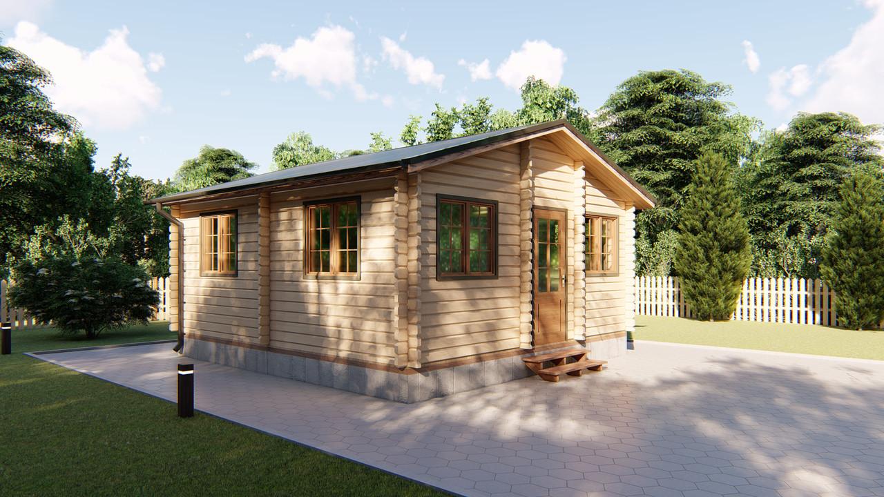 Дом садовый из профилированного бруса 5,6х6 м. Скидка на домокомплекты на 2020 год