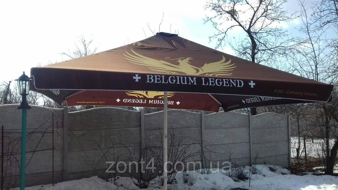 Тент на зонт 4х4 метра торговый, барный для кафе, садовый, уличный, замена тентов, полиестр