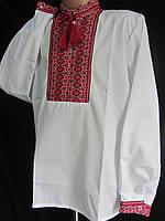 "Рубашка с вышивкой на мальчика ""Тканка2"", поплин, 86-152 рост, 180/150 (цена за 1 шт. + 30 гр.)"