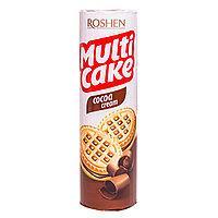 Печиво-сендвіч Multicake Рошен Roshen з начинкою какао 180 г Х в ящику 28