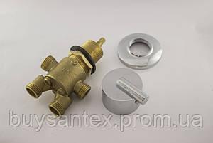 Кран для гідромасажної ванни (J7000K) вбудовується в борт ванни для перемикання положень на 2 режиму., фото 2