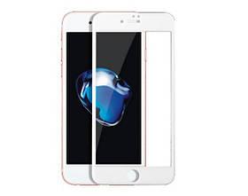 Защитное стекло 9D iPhone 7/8 White (полное покрытие)