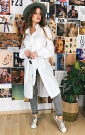 Рубашка длинная белая Viravi Wear, модель 1041