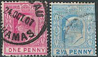 Багамы. Британские колонии 1906-1907
