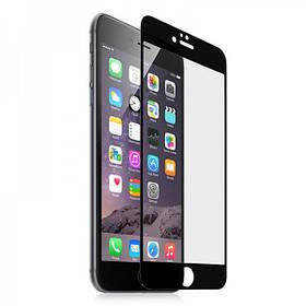 Защитное стекло 9D iPhone 6/6s Black (полное покрытие)