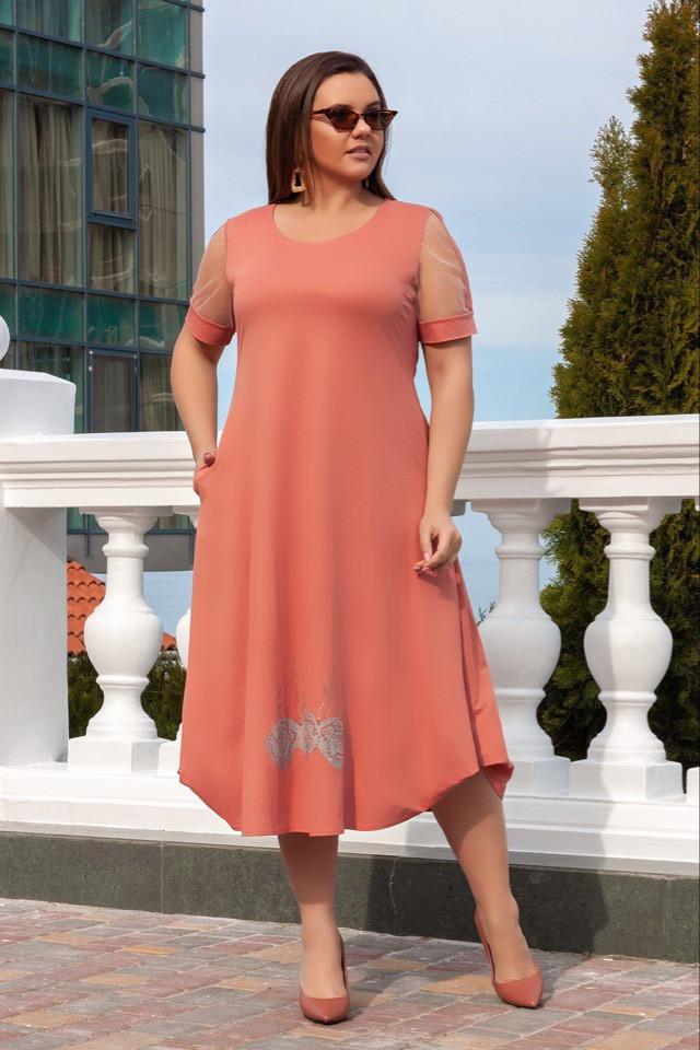 Літнє плаття жіноче великого розміру 50.52.54.56
