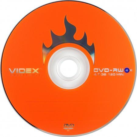 Диск  DVD + -RW Videx 4.7 Gb 4x bulk