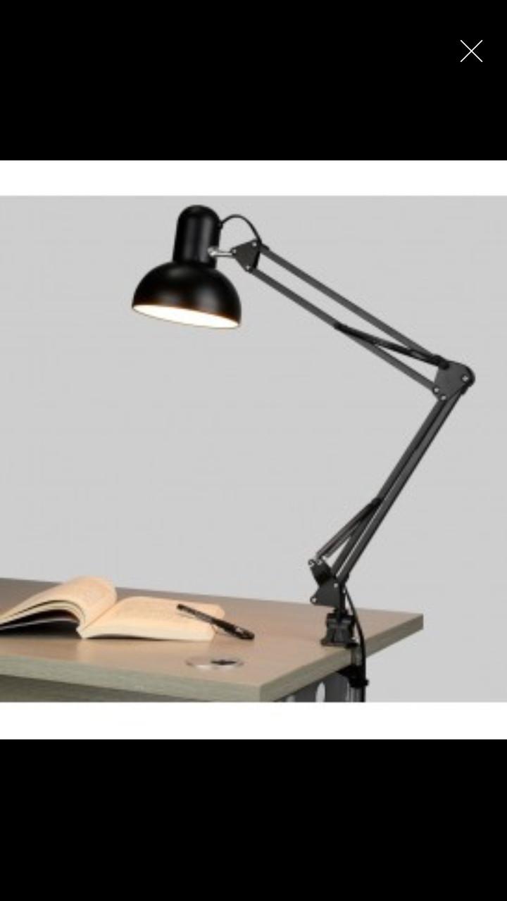 Лампа настольная серая