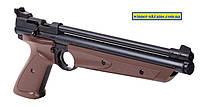 Пневматический пистолет Crosman 1377C черный и коричневый