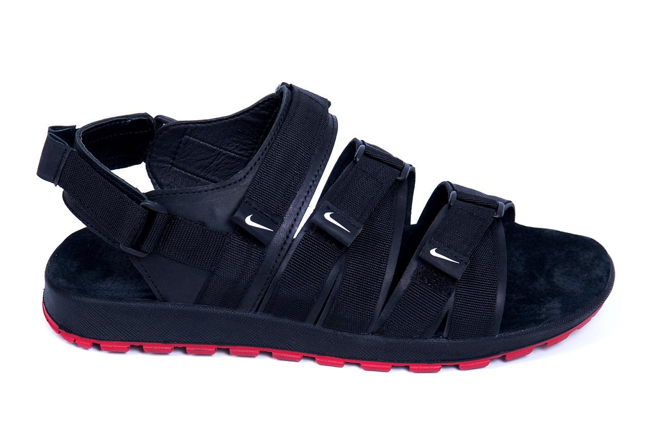 679458f81e06 Мужские кожаные сандалии Nike Summer life black (реплика)