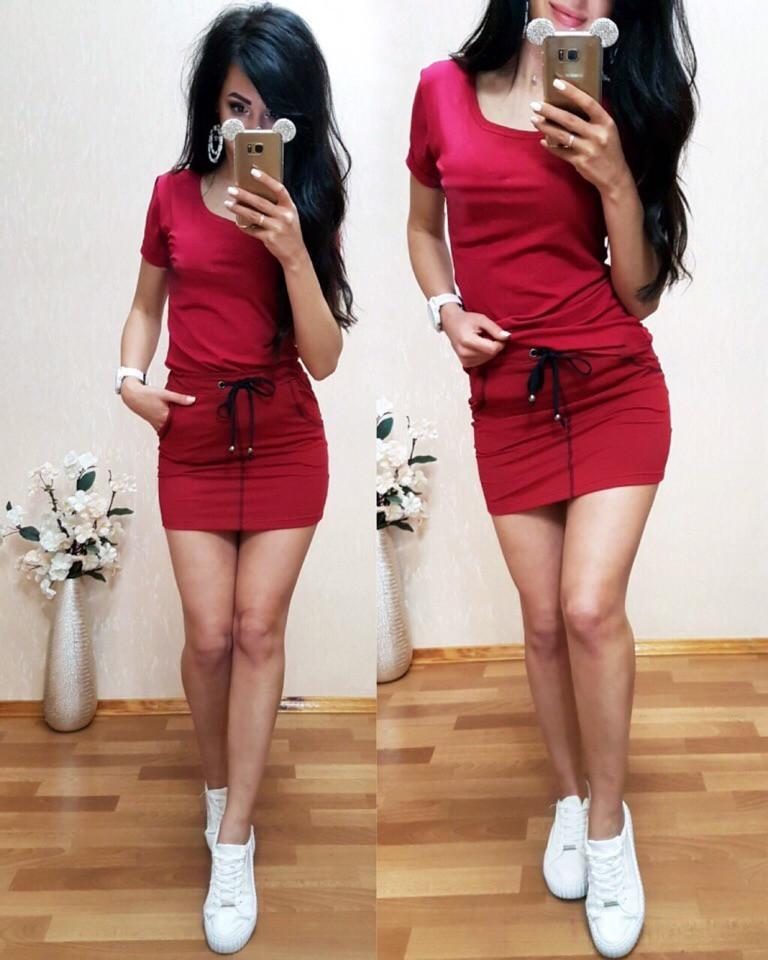 Костюм футболка + юбка, размеры s m l xl Турция