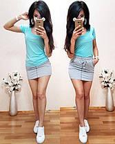 Костюм футболка + юбка, размеры s m l xl Турция, фото 2