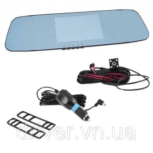 Відеореєстратор-дзеркало з 2 камерами 1080P Full HD