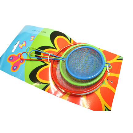 Сито кухонне кольорове Набір 3 шт 5.5-7-8.5 см