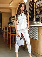 Модный женский брючный костюм S M L XL 2XL