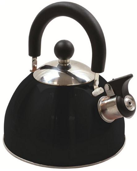 Чайник Highlander Deluxe Whistling 2.0L Black 926370, черный