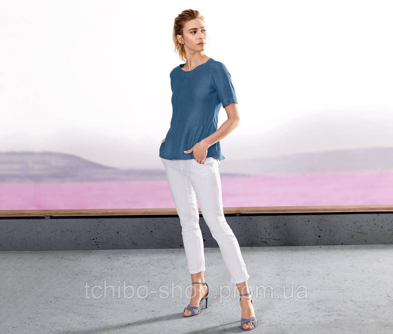 Стильная блуза тонкий джинс от тсм Tchibo размер 42 евро наш 48