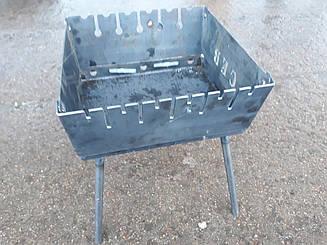 Мангал складаний для відпочинку ПІВН 2 мм ,Україна 6 шампурів