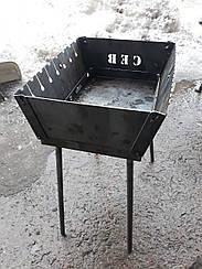Мангал складаний для відпочинку ПІВН 2 мм ,Україна 8 шампурів