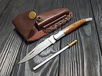 Нож Дамаск складной + точилка ручная работа ,эксклюзив