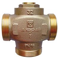 Трехходовой смесительный клапан Herz TEPLOMIX DN 25 для повышения темпер. обратки до 55-63°С с откл. байпасом