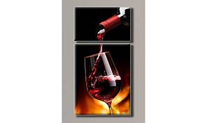 Модульная картина на холсте Вино-4 104х54 см (HAD-008)
