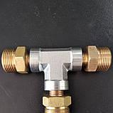 Трійник високого тиску для підключення двох пістолетів до АВД, фото 2