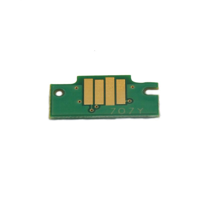 Чип Ocbestjet для картриджа Canon PFI-707C для плоттеров Canon iPF830/iPF840/iPF850, Cyan