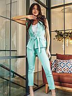 Летний деловой костюм женский,однотонный S M L XL 2XL 3XL 4XL