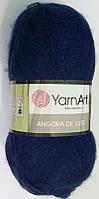 Пряжа для ручного вязания Yarnart  Angora De Luxe (Ангора де люкс) мохер 583 синий