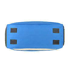 Дорожня сумка TONGSHENG голубая 54х34х20  полиэстер на ПВХ основе кс99929гол, фото 3