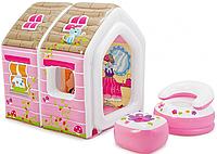 Надувной игровой центр, Игровой домик Принцессы Intex 48635, размер 124х109х122 см, фото 1