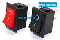 Кнопочный выключатель, клавиша средняя, 2 контакта, с фиксацией, защёлка 18,8 * 12,9 мм., фото 1