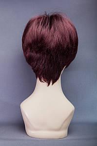 Короткий парик №19. Цвет баклажановый