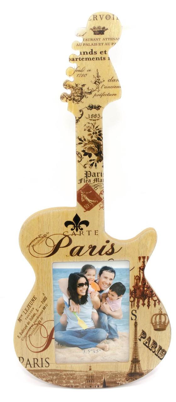 """Фоторамка """"Гитара"""" (фото 12х8 см гитара 40х17х1 см)"""