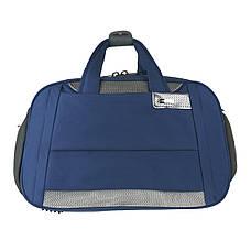 Дорожня сумка TONGSHENG  54х34х20 синяя полиэстер на ПВХ основе кс99929син, фото 2